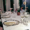 10-15-12 Gorgeous dining room, linens, silver, china.