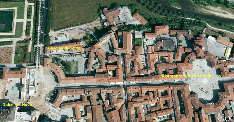 10-13-12 Google Map of our hotel, lunch & dinner locations. Looks like this map is from a while ago - the palace grounds show a lot of construction.