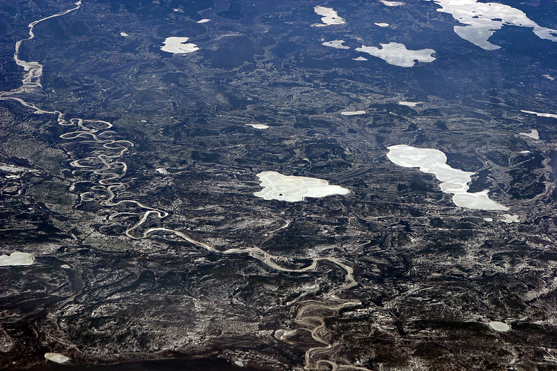 Cold over Canada - frozen lakes and rivers