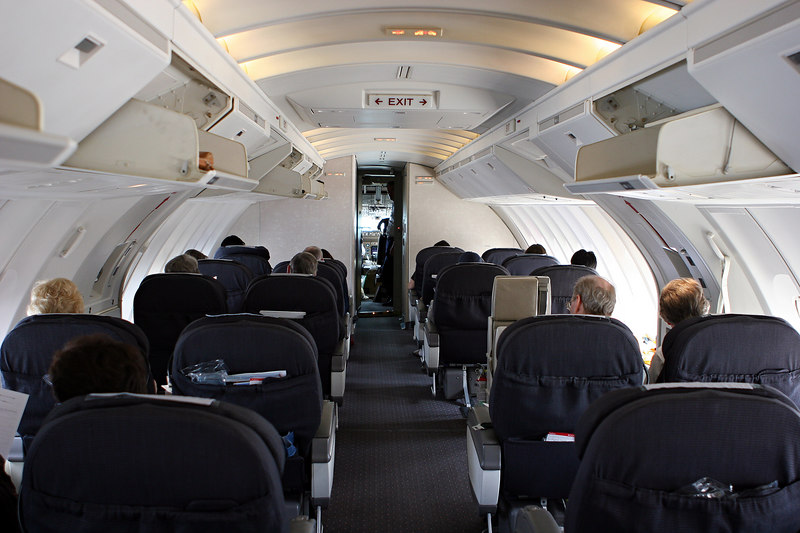"""With a huge thank you to our son, who used his milage to make the trip that much more comfortable for his Mom and Dad.  The view of our """"home"""" on the 747 upper deck."""