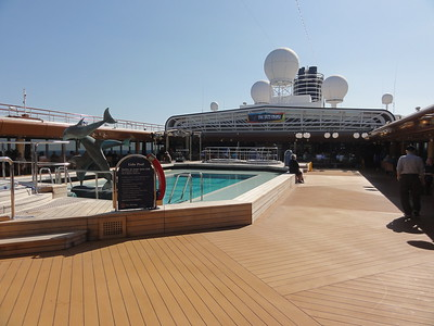 The aft deck pool. We often had coffee and breakfast here. Just beautiful.