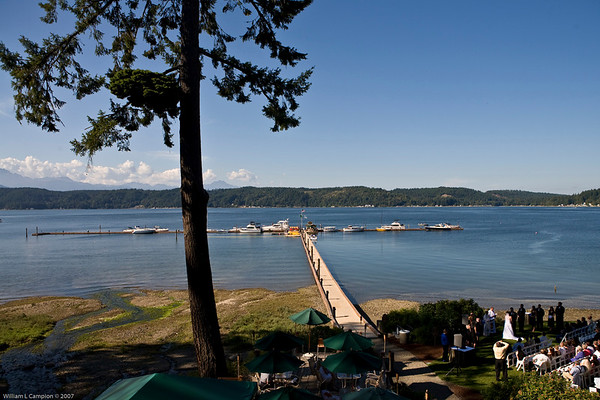 Look out from our  room at the Alderbrook Resort
