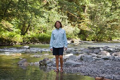 Melinda, Stair Case in Olympic National Park