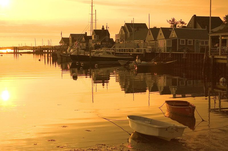 Nantucket Harbor at sunrise