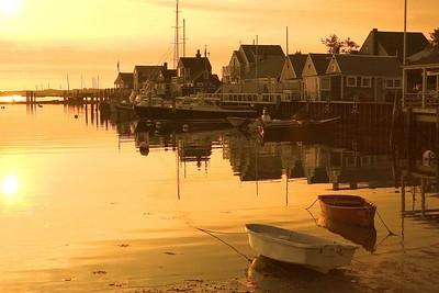 Nantucket Harbor at sunrise