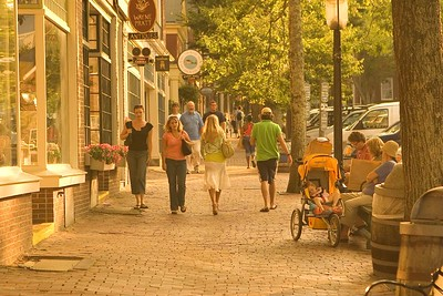 Nantucket Street in the early evening