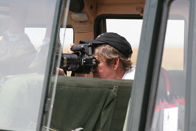 John photographing