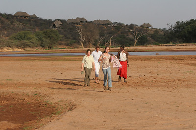 Walking down from the Sassab Lodge to where the Goat Ceremony with the Samburu wasto be held