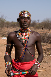 Dowdy, our main Samburu Warrior guide at Sasaab