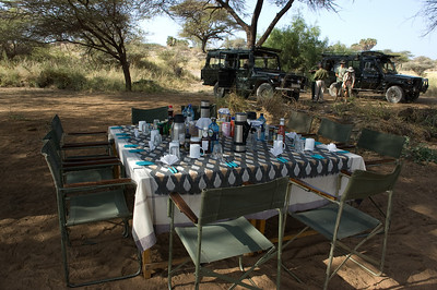 At the end of our gorge hike, breakfast had been set up and was waiting for us