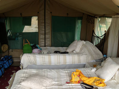 Audrey and Elaine's tent