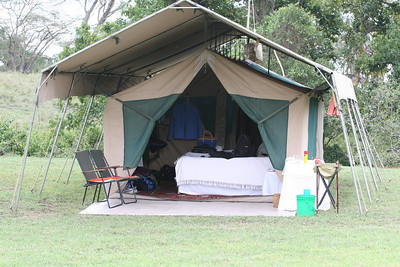 Debby and Curtis's tent