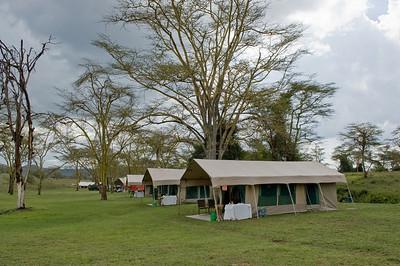 Tent camp at Lake Nakuru National Reserve