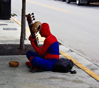 4 spiderman with a sitar