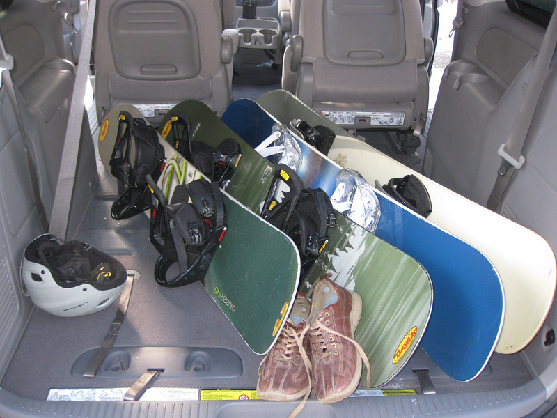 Snowboards? Check. Ready to go...