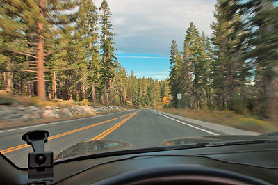 Afternoon drive on Nevada side of Lake Tahoe.