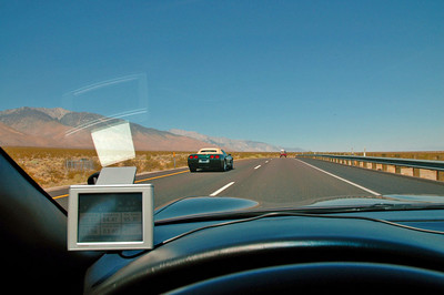 Heading north on 395 by Inyokern, Ca. Exchanged waves with the couple in the C5 ahead as they passed by.