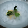 Scallop dish at Guy Savoy. The stuff bubbling up is dry ice that has just had warm water poured on it.