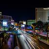 Nighttime on the Las Vegas Strip.
