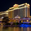 Caesar's Palace at night. HDR composite.