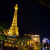 View of Paris at night, on the Las Vegas Strip.