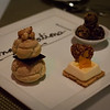 Dessert at the lakeside bistro at Wynn.
