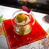 Yummy custardy dessert at L'Atelier.