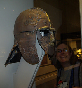 The Sutton Hoo helmet, and April!