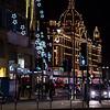 Knightsbridge at night.