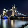 Tower Bridge at night. HDR merge.