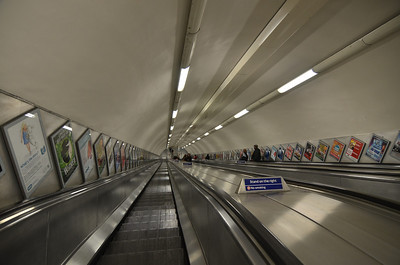These escalators to the Tube were some of the longest I've ever seen.