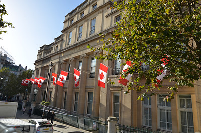 Canadian Embassy? What gave that away?