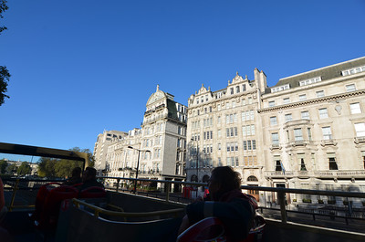 Best way to see London during a short trip is on the top of a double-decker bus.