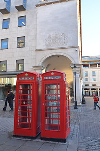 Obligatory photo of the iconic London telephone booth.