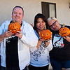 Tony, Stacy, Autumn and their pumpkins