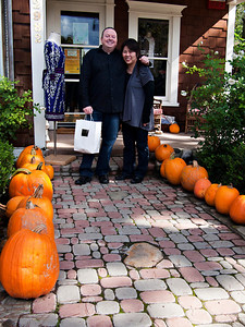 Tony and Stacy with the pumpkins