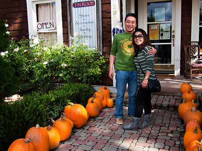 Lee and Mary with the pumpkins
