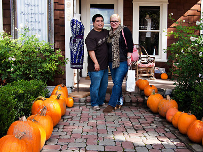 Todd and Autumn with the pumpkins