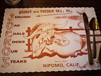 Jocko's placemat