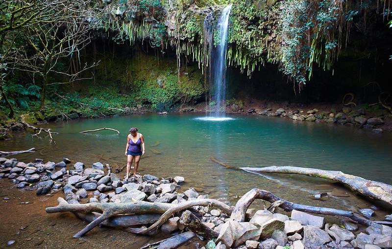 Twin Falls along the road to Hana.