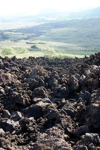More volcanic rock on the drive