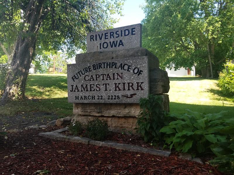 Future Birthplace of Captain James T. Kirk - Riverside, Iowa