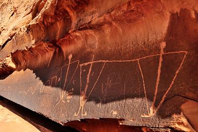 Petroglyphs on the Birthing Panel Rock