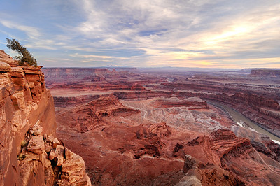 Cloudy Sunset at Dead Horse Point