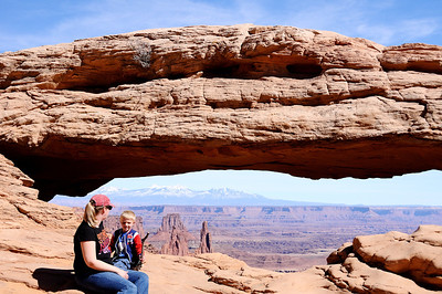 Alison and Brandon at Mesa Arch