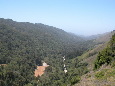 Overlooking Highway 1 and the Big Sur River Valley