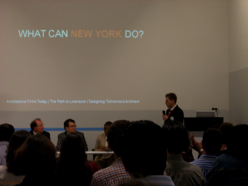 Mark's presentation at the AIA center in NYC