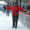 Ice skating in Rockafeller Center