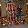 Mancini Duffy's Can structure for charity, it a milk carton