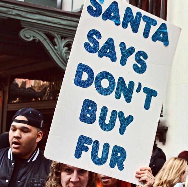 No fur this Christmas.